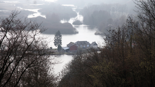 Il fiume Somma nei pressi di Maricourt.
